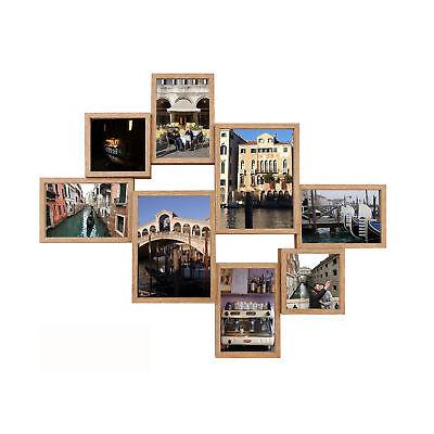 Texas Collage (Collage Bilderrahmen - Shinsuke® - Texas - eiche - Größe 62,5x50,5 cm)