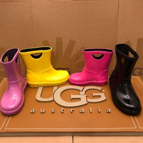 NEW TODDLER UGG RAHJEE WATERPROOF RAIN BOOTS PVC RUBBER JERSEY LINED KIDS