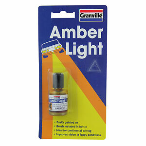 Granville Amber Yellow Lacquer Headlight Headlamp Lens Paint Continental Euro