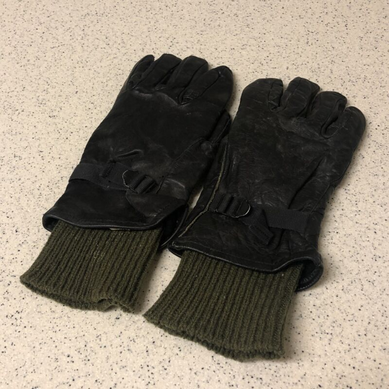 Vintage M-1949 Gloves - Leather Shell w Wool Inserts - Military - Size 4