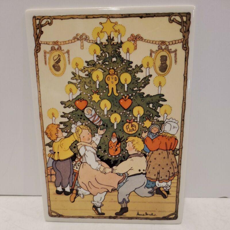 Vintage Villeroy & Boch Vilbo CeramCard O Tannenbaum Porcelain Germany Xmas Tree