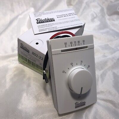 Robertshaw 802-22 120v Double Pole Single Throw Line Voltage Thermostat. New
