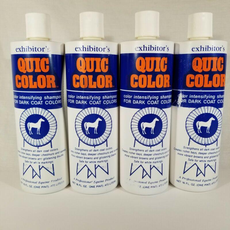 Lot 4: 16 Ounce Exhibitors Quic Color Intensifying Shampoo Dark Coat Horses