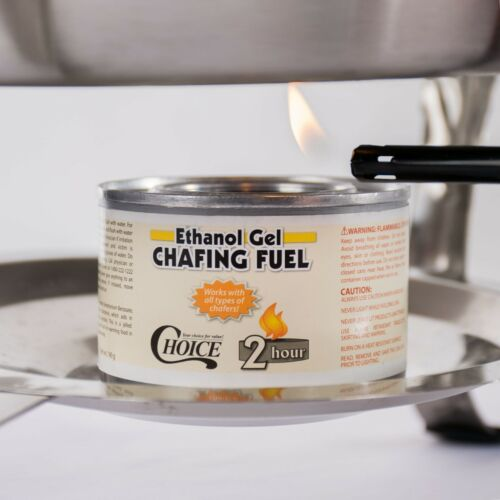 12 CANS- ETHANOL GEL CHAFING FUEL 2 HOUR- PARTY, BUFFET, CATERING- ALL CHAFERS!
