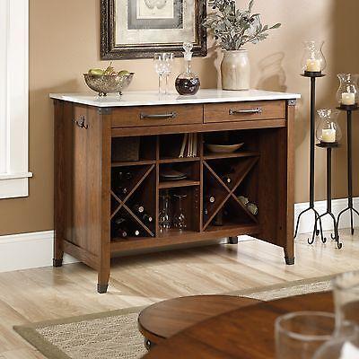 بوفيه جديد Gourmet Stand – Washington Cherry – Carson Forge Collection (415036)
