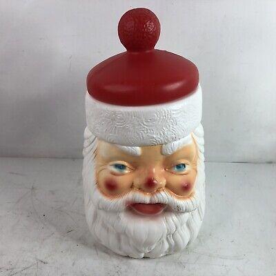 Vintage Santa Claus Christmas Cookie Jar Plastic Blow Mold EMPIRE 1973 Xmas