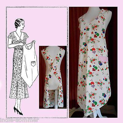 ~ Vintage Flapper Era Full Size Apron Reproduction  Pattern,  Mail Order # 910 ~