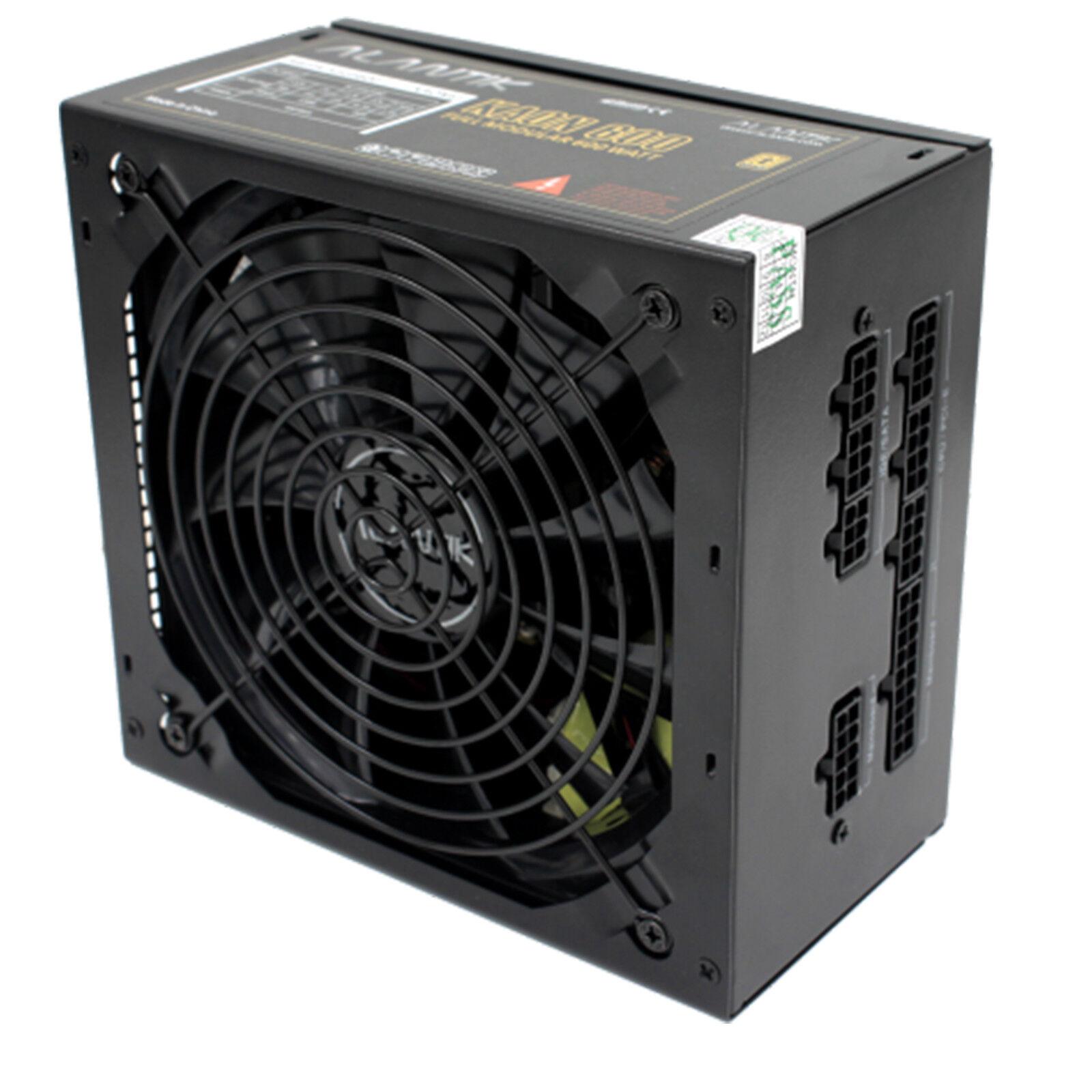 ALIMENTATORE MODULARE PC COMPUTER ATX ALANTIK 600W SATA IDE MOLEX VENTOLA 14CM