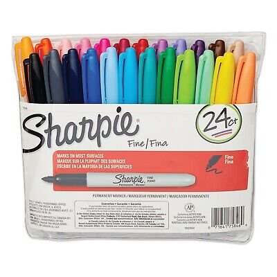 Sharpie Fine Point Marker Set Of 24 With Pouch