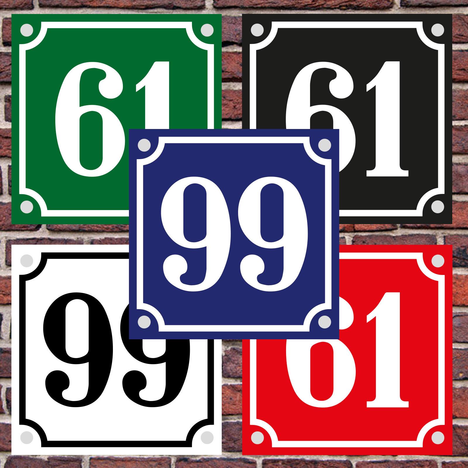 Hausnummer Hausnummernschild Emaille 15x20 cm mit Wunschstra/ßennamen und Nummer