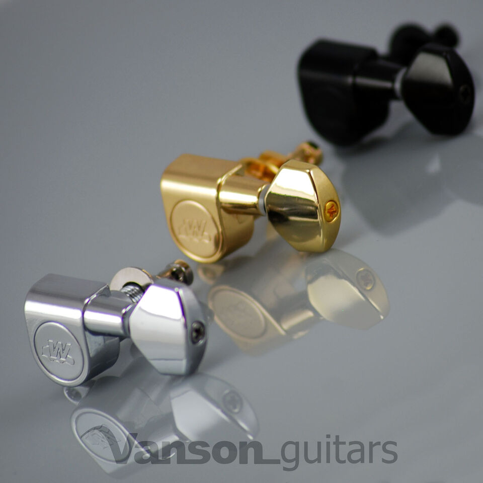 6 x NEW Wilkinson WJ07 EZ-LOK Tuners Machine heads for Fender® Strat® or Tele®*