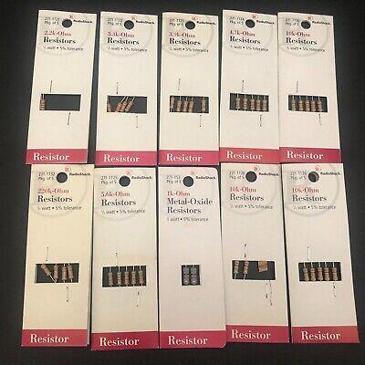 Radioshack Resistors 12 Watt 5 1 Watt Tolerance Mixed Lot