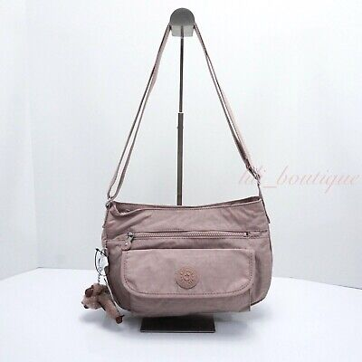 NWT Kipling HB3819 Syro Crossbody Shoulder Bag Purse Nylon Antique Rose Tonal 84