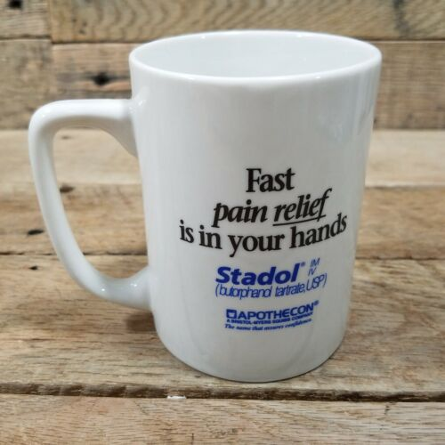 Stadol Fast pain relief Is In Your Hands Pharmaceutical Drug Rep Coffee Mug
