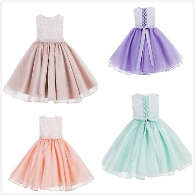 Lace Flower Girl Dresses Organza Dresses Birthday Girl Dress Graduation Dresses - Flower Girl Dresses Organza
