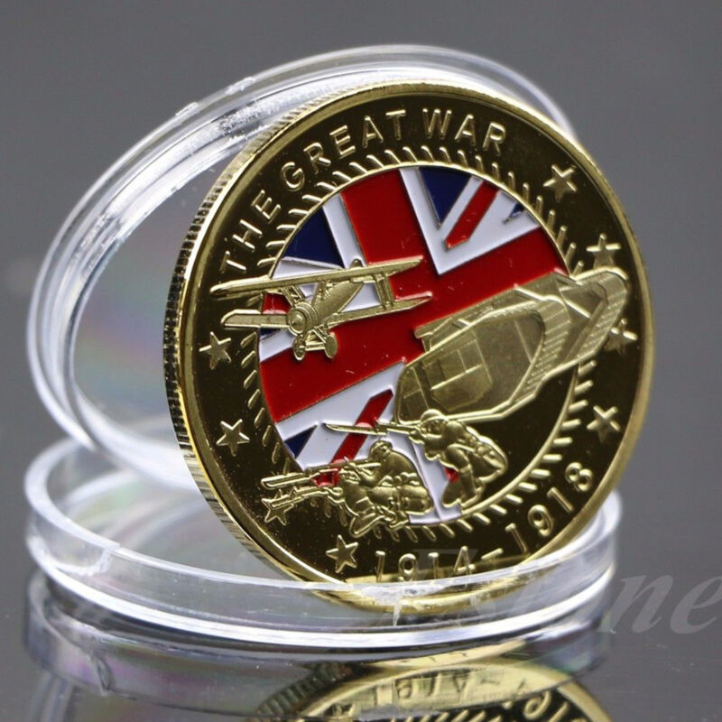 New Gold Plated The Great War Commemorative Coin Art Collection Collectible Gift