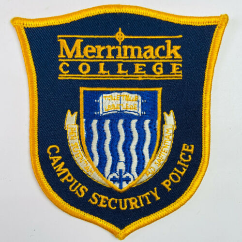 Merrimack College Campus Security Police North Andover Massachusetts Patch (A3)