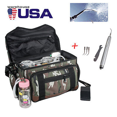 Portable Dental Turbine Unit Air Compressor Suction 3w Syringe Bag Air Scaler
