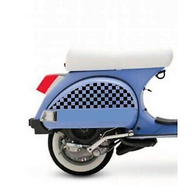 VESPA PX 125 150 200 LML CHEQUERED SIDE STICKERS DECALS GRAPHICS