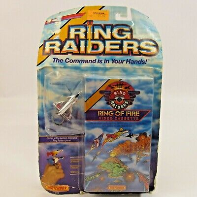Ring Raiders Toy Airplane and VHS Video NEW 1988 MOC F-19A Stealth Plane