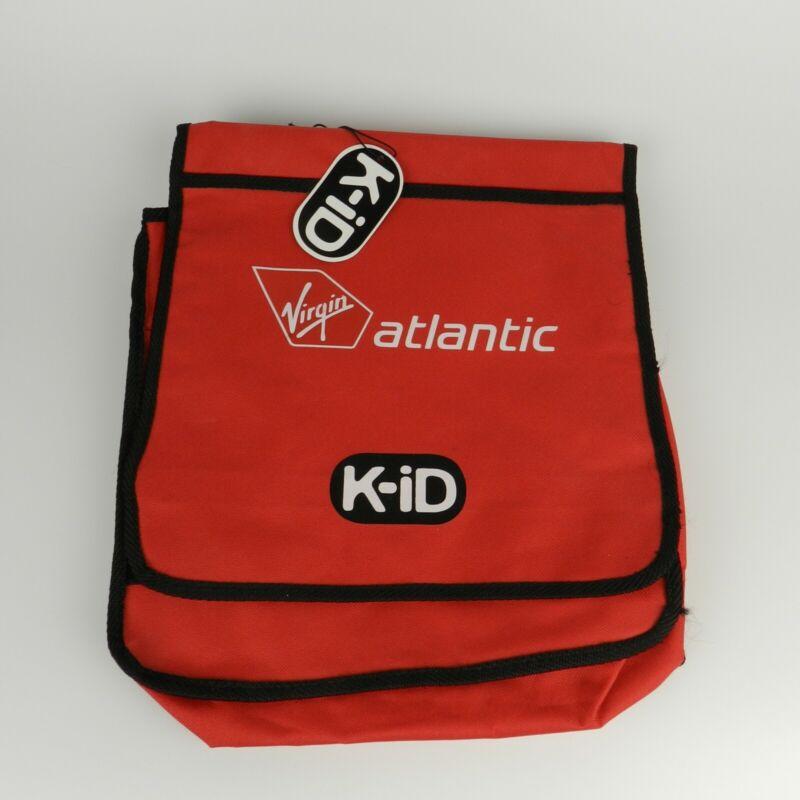 Virgin Atlantic K-ID Backpack Satchel Messenger Bag Red