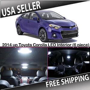 2014-UP-TOYOTA-COROLLA-White-Interior-LED-Package-Kit-6-piece