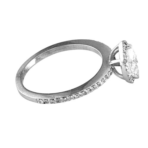 Best seller Halo Style GIA Certified Marquise Diamond Engagement Ring 3.10 CTW 5