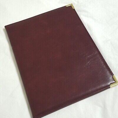 Samsill Burgundy Faux Leather Portfolio 7025 Vintage Folder Note Pad -l
