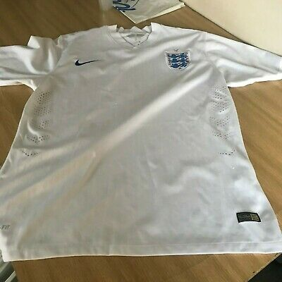 ENGLAND NIKE WHITE HOME JERSEY FOOTBALL SHIRT USED MEN'S SIZE M