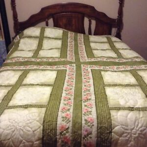 Handmade queen size quilt new never used