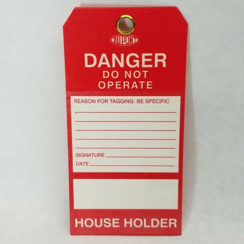250 PCS - DANGER - DO NOT OPERATE Lockout Tags, Self Laminated, Remark