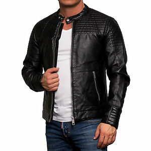 6990 jack jones herren biker jacke lederjacke. Black Bedroom Furniture Sets. Home Design Ideas