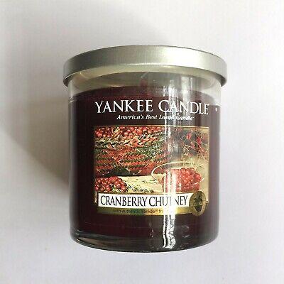 Yankee Candle CRANBERRY CHUTNEY Tumbler Christmas Holiday Fragrance 7oz
