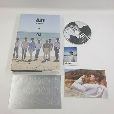 SEVENTEEN 4th Mini album AL1 CD Wonwoo Sticker Photocard Postcard Opened Al1 ver
