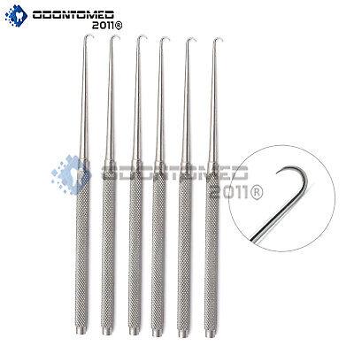 6 Joseph Skin Hook Single Prong Dermal Surgical Instruments