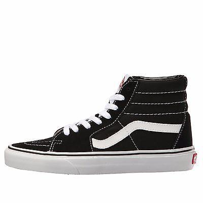 Vans Sk8 Hi White - Mens Vans Sk8-Hi Top Fashion Sneaker Core Classic BLK WT Canvas Suede All SZ NIB