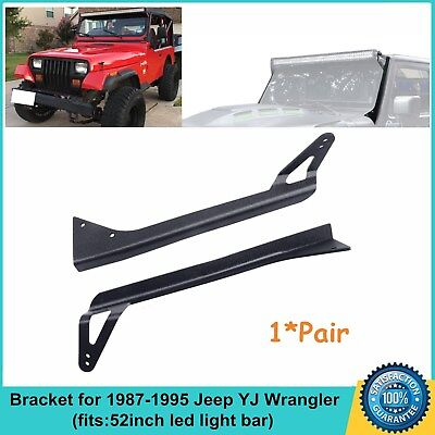 1987-1995 Jeep YJ Wrangler Mounting Bracket For 52inch Straight LED Light Bar
