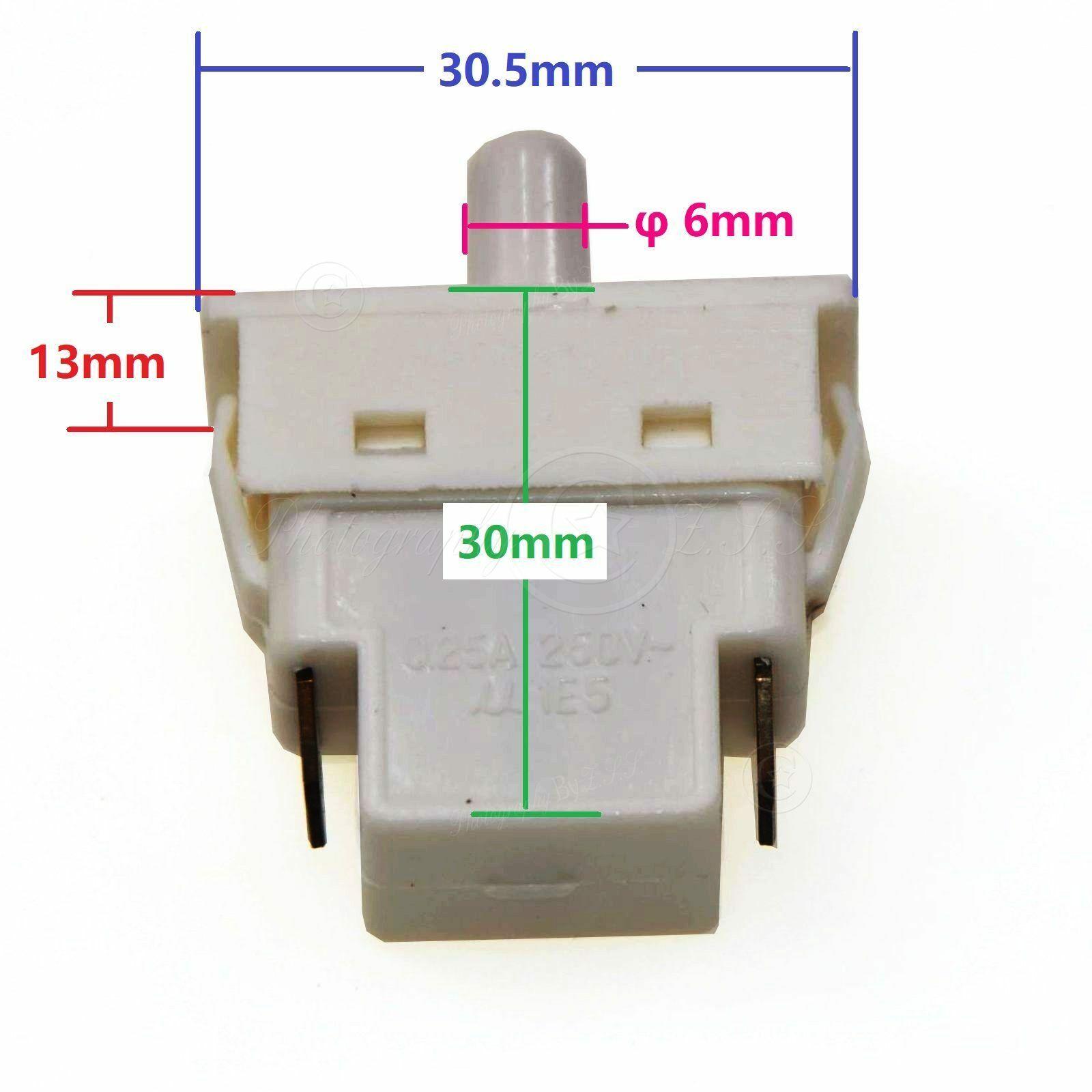 Universal 2 Pin Refrigerator DoorGated Light Switch Fridge Cooler Repair Parts