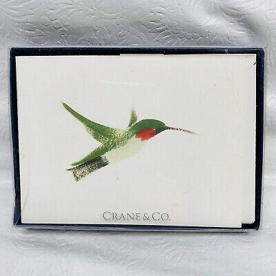 Crane & Co. Hummingbird Fluorescent White Cover 10 Ct Notecards Cards Birds USA