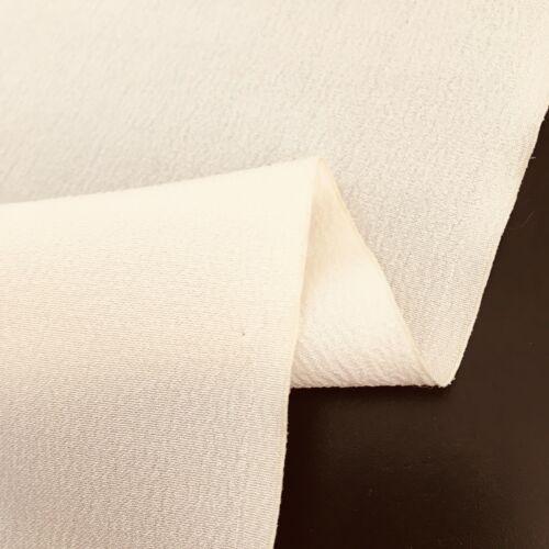 Ivory #R UnUsed Chirimen Silk Bolt by the Yard Undyed Japanese Kimono Fabric