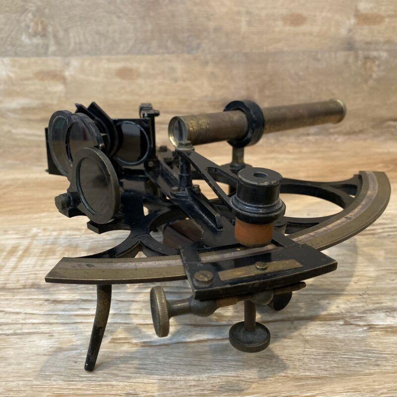 Antique W. Weichert of Cardiff Maritime Ship Sextant Brass & Iron Estate Find