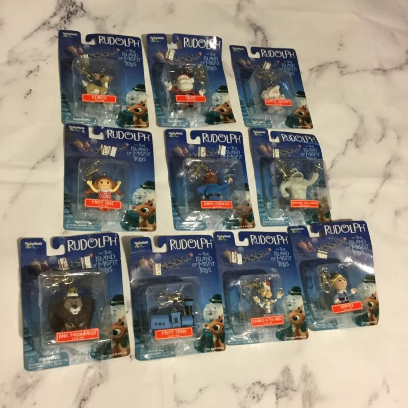 RUDOLPH THE ISLAND OF MISFIT TOYS PLAYING MANTIS COLLECTIBLE ORNAMENTS LOT 10PC