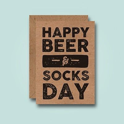 Beer & Socks - Funny Birthday Card - Joke Father Dad Boyfriend Best Friend