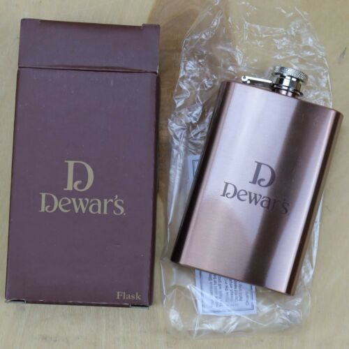 NEW Dewars stainless steel Whiskey Flask BRAND NEW  4OZ-FREE SHIPPING