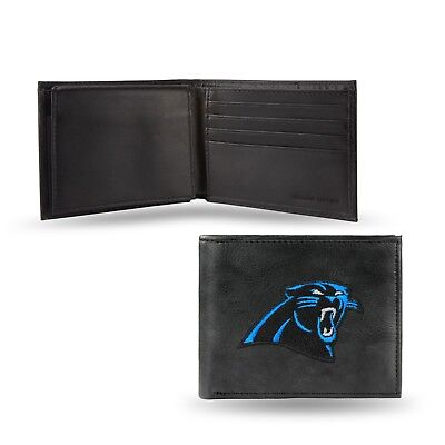 Carolina Panthers Embroidered Leather - Carolina Panthers NFL Embroidered Leather Billfold Bi-fold Wallet ~ New