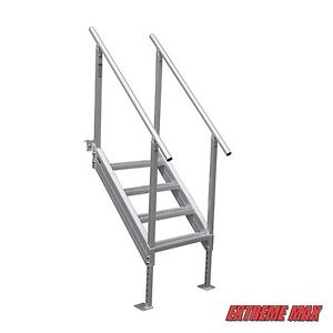 Extreme Max™ Universal Mount Aluminum Dock Stairs, 4 Step