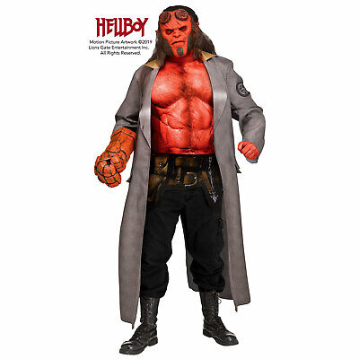 Hellboy 2019 Official Adult Men's Muscle Halloween Costume + Mask + Hand of