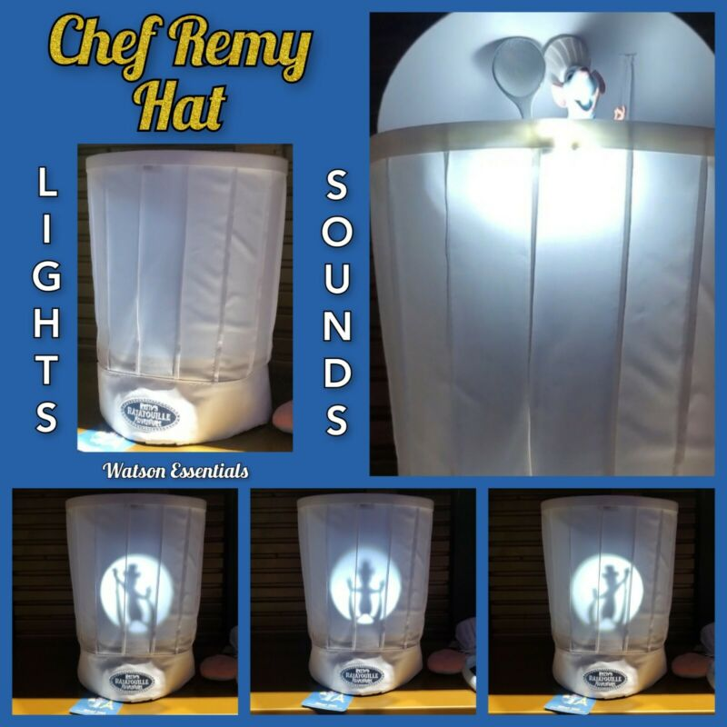 2021 Disney Parks Remy Ratatouille Adventure Chef Hat Toque With Lights & Sounds