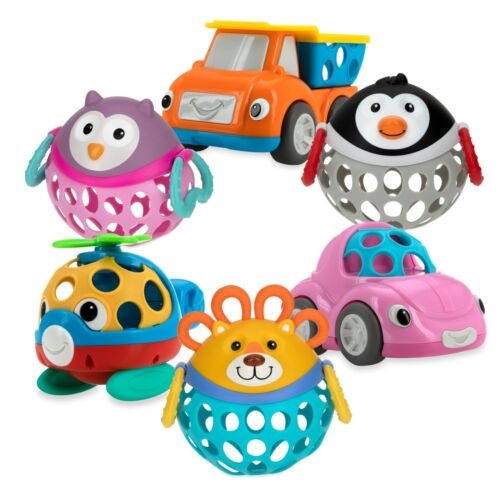 Nuby Silly Shakers Tumble Tots Rattle - Interactive - 3+ Months - BPA Free