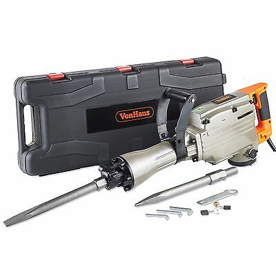VonHaus 1500w Demolition Hammer Drill Concrete Breaker Jackhammer with Case